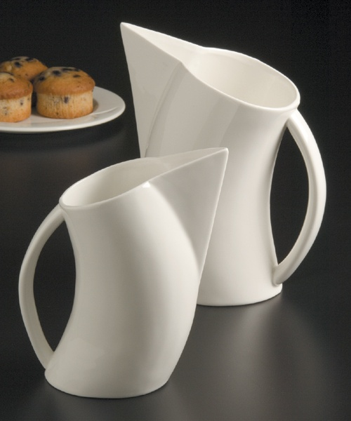 Angled Porcelain Water Pitchers