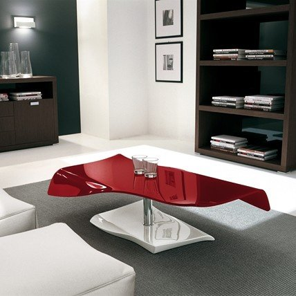 Curved Glass Cocktail Table