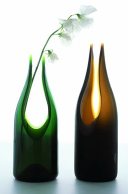 Recycled Glass Cut Vase