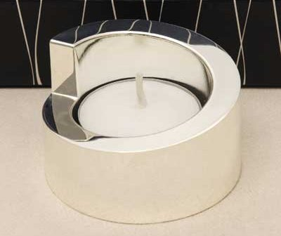Silver Swirl Tea Light Holder