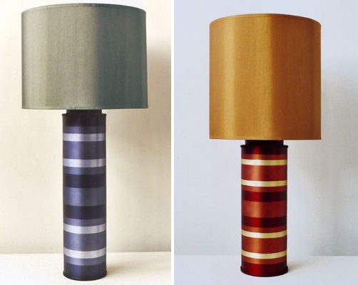 Striped Cylinder Lamps