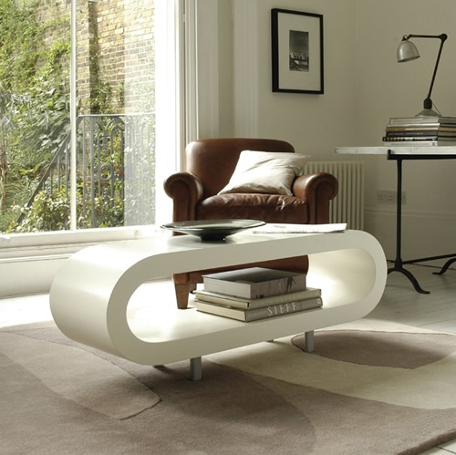 Loopy White Coffee Table
