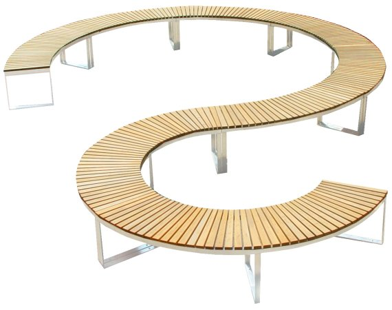 The Leaf and Curve outdoor benches from Deesawat » CONTEMPORIST