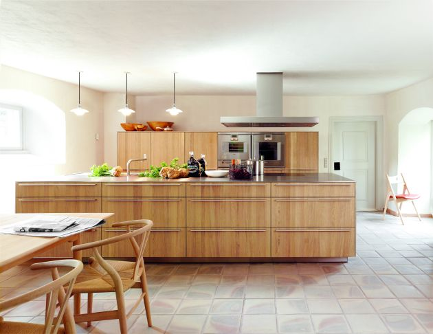 Contemporary luxury wooden kitchen design and furniture