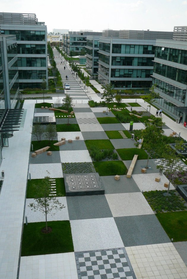 A patchwork in the park by cigler marani architects for Park landscape design