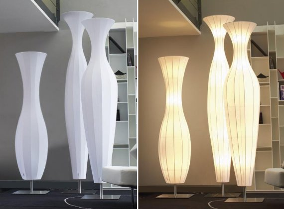 The Valzer Floor Lamp created by Pamio Design. Spotted at Pallucco .