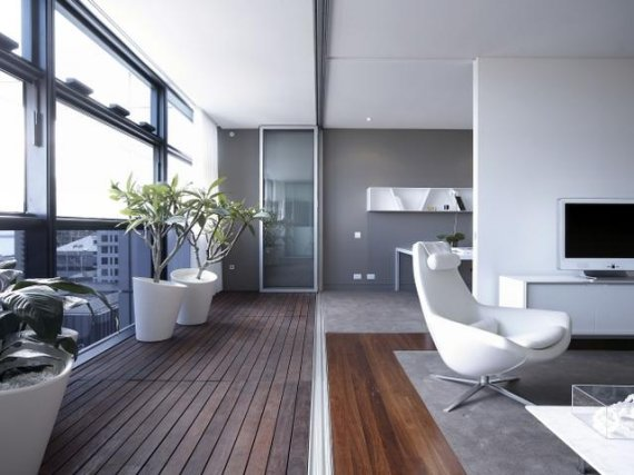 Sydney Apartment. Modern White Interior. Contemporary Home