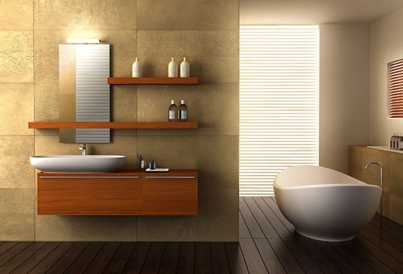 Teak Bathroom