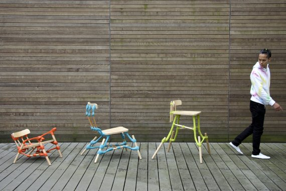 Colourful seating