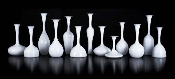 Silhouettes Glass Vases