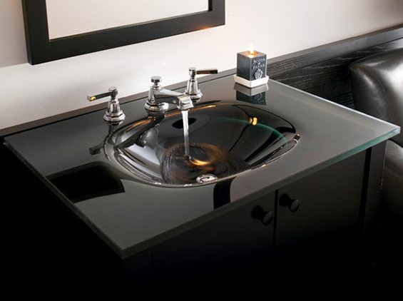 glass sinks. New Glass Bathroom Sinks From