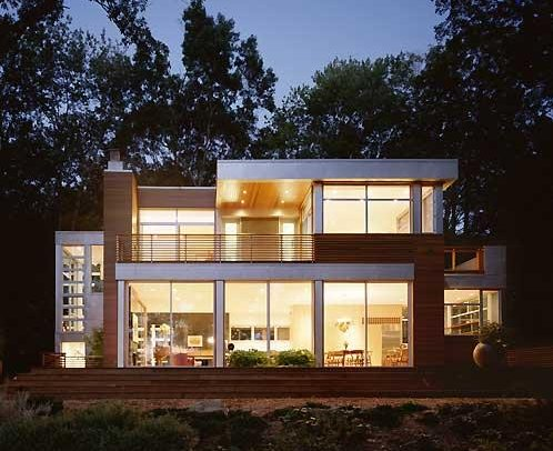 Lake side house contemporist for Modern lake house plans