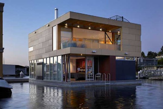 Modern Floating Home Design