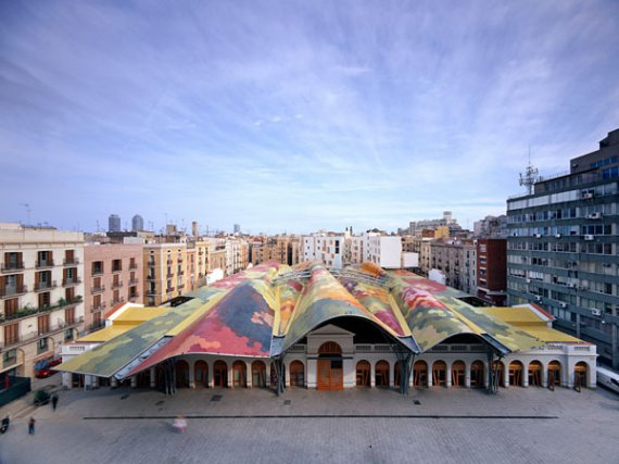 The Roof of the Santa Caterina Market in Barcelona Spain & The Roof of the Santa Caterina Market in Barcelona Spain ... memphite.com