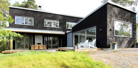 swedish prefab homes from modern living | contemporist