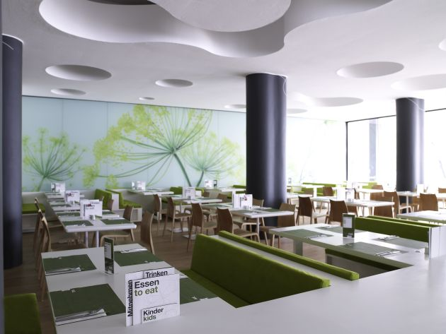 Nat fine bio food restaurant interior by eins eins for Bio design hotel