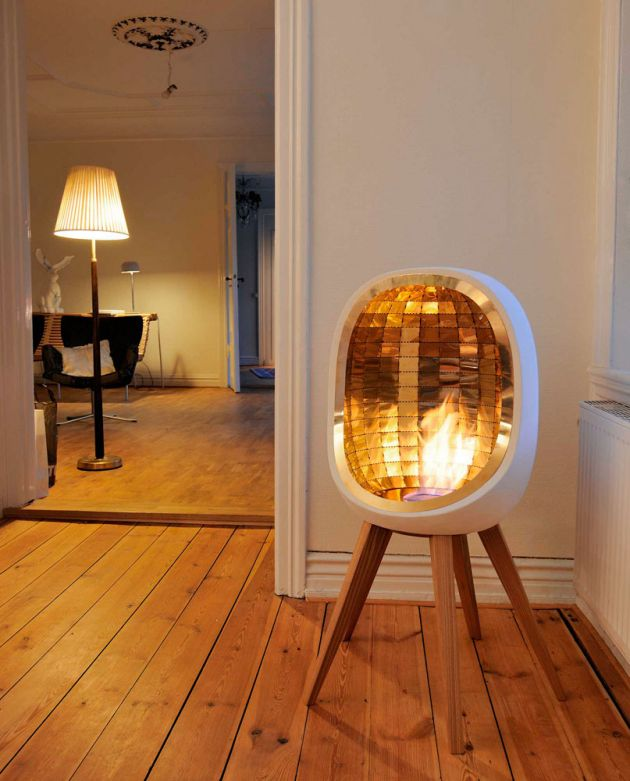 Piet fireplace by fredrik hylt n cavallius contemporist - Heating small spaces concept ...