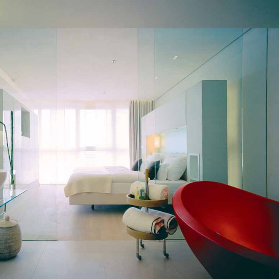 the side hotel by matteo thun contemporist. Black Bedroom Furniture Sets. Home Design Ideas