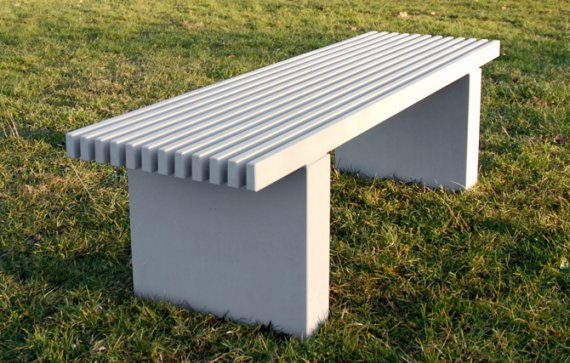 Modern Concrete Bench