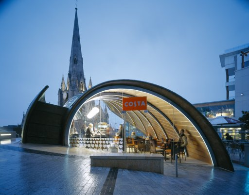 The spiral caf contemporist for Top uk architects