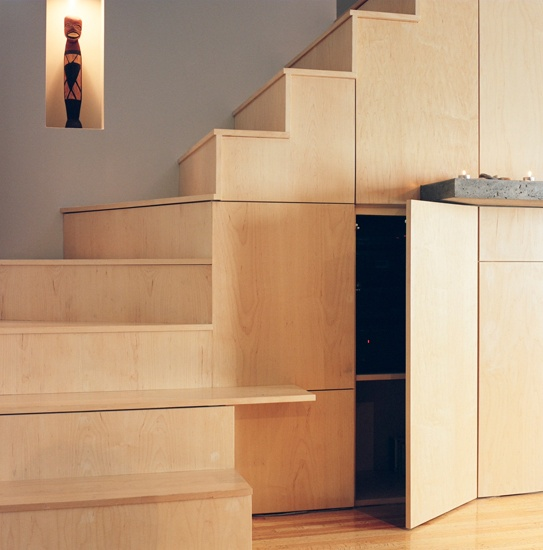 Stairway with storage