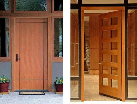 Contemporary door designs from stilewood contemporist for Home main door interior design