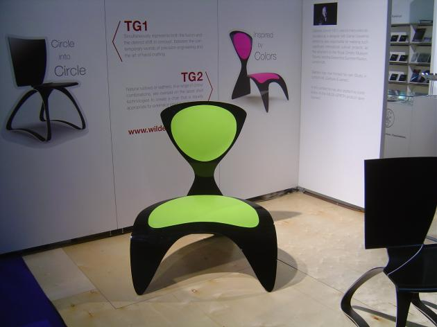 The TG2 chair is made of fibreglass, its wide and continuous folds flow, to maximise body contact #Chair #Seating #FurnitureDesign #ModernChair
