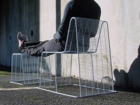 Wire Frame Chair & Stool