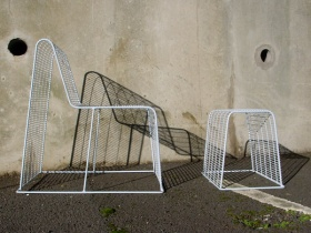 Wire Frame Stool & Chair