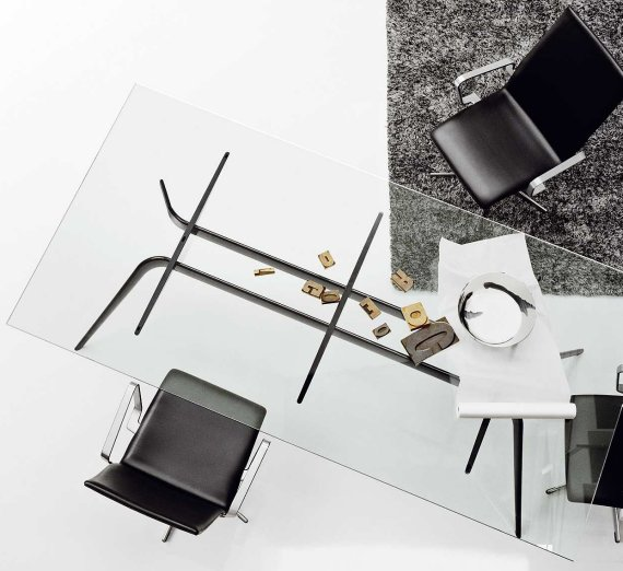 Contemporary Metal & Glass Table