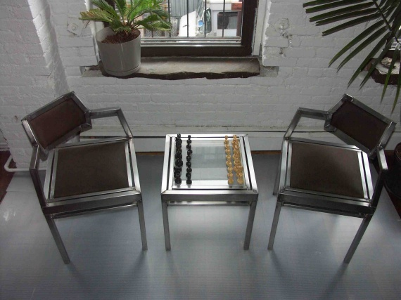 Modern Chess Table chairs & chess table | contemporist