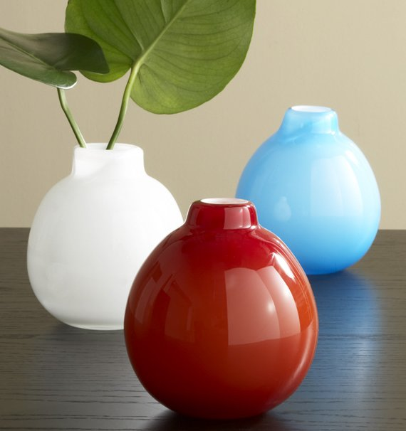 Art Glass Small Bulb Collection Vase
