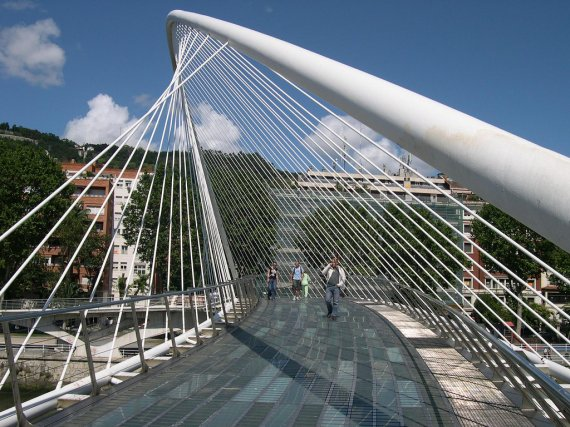 Zubizuri Bridge Bilbao Spain