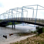 Balijbos Bridge in Zoetermeer, Netherlands