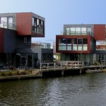 Modern Houses in Almere, The Netherlands