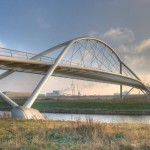 Pedestrian Bridge in Westzaan, Holland