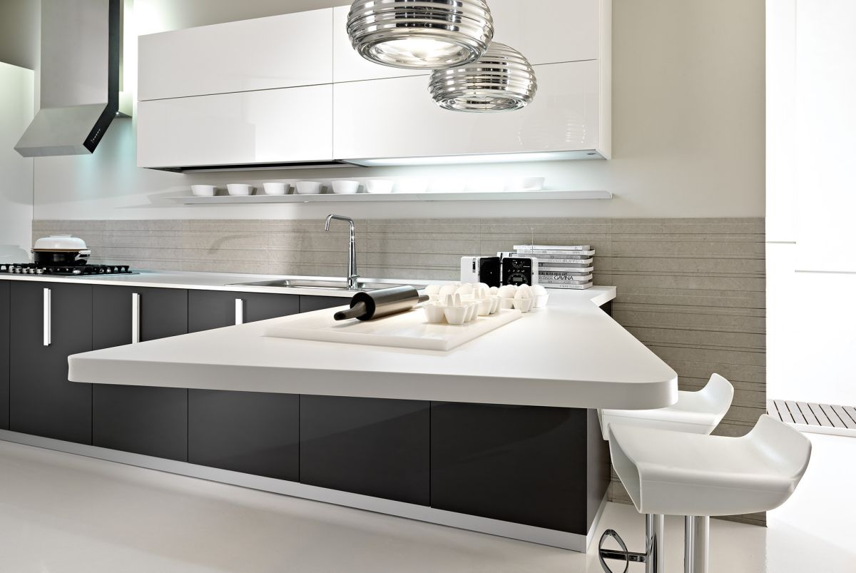 Modern luxury kitchen design in gray