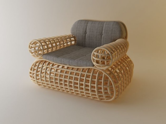 Astounding Doeloe Lounge Chair And Pretzel Bench By Abie Abdillah Short Links Chair Design For Home Short Linksinfo
