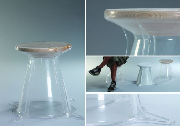 Inon Rettig a young designer from Israel has created the Rik collection of stools and l&s that combine wood and plastic in such a way that one confines ... & RiK Stools and Lighting by Inon Rettig | CONTEMPORIST islam-shia.org
