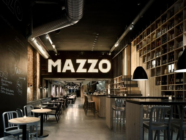 concrete architectural associates have recently completed the interior design of the mazzo restaurant in amsterdam the netherlands - Concrete Cafe Interior