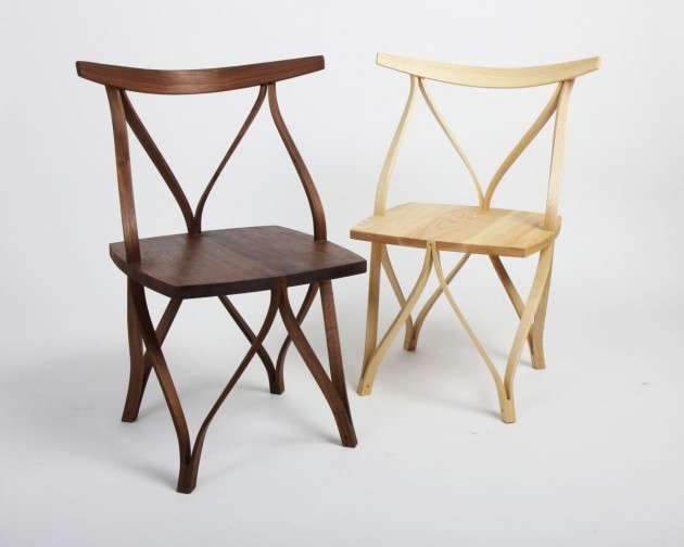 korean designer dohoon kim has created a series of steam bentwood chairs
