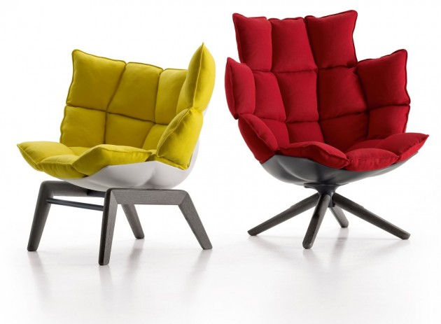 Patricia Urquiola has designed the Husk chairs for B&B Italia .