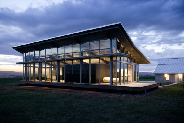 Glass farmhouse by olson kundig architects contemporist Architectural designs farmhouse