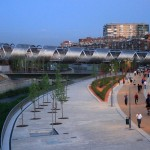 Arganzuela Footbridge by Dominique Perrault Architecture