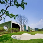Green Weaving Club House by Hyunjoon Yoo Architects