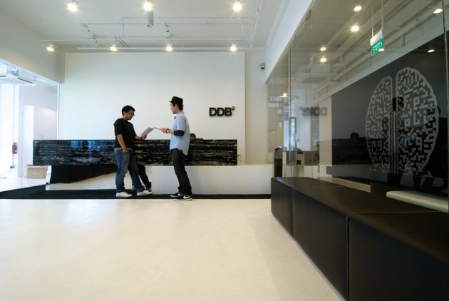 bbfl design created the interior for the ddb advertising agency in singapore advertising office interior design