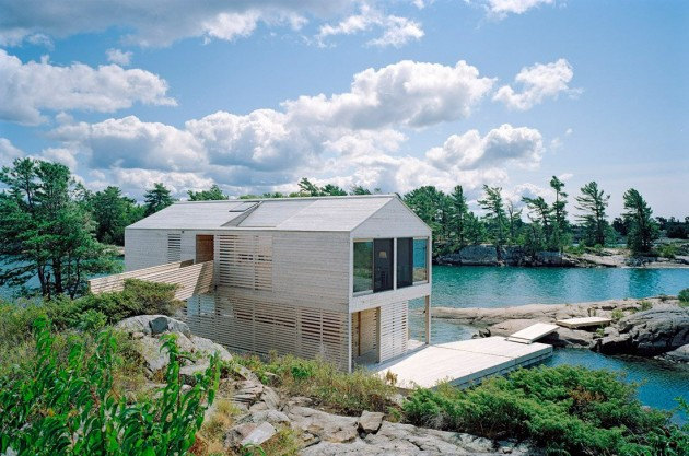 MOS Architects Designed The Floating House On Lake Huron In Ontario, Canada. Home Design Ideas