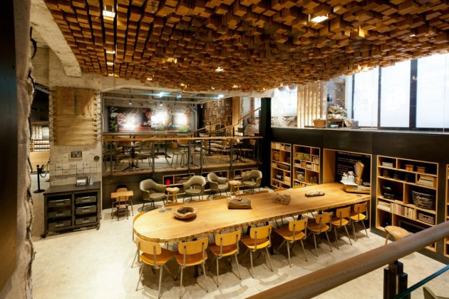 Starbucks the bank concept store in amsterdam contemporist for Amaze asian fusion cuisine 3rd avenue new york ny