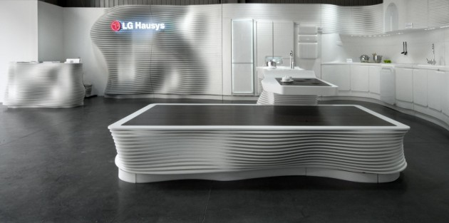 Lg Hausys Presented A Kitchen Made Entirely From Hi Macs