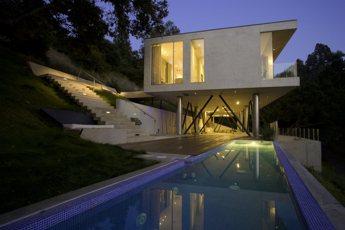 Best minimalist home designs oakpass residence by heusch architecture